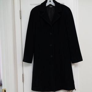 DKNY  Basic black wool coat